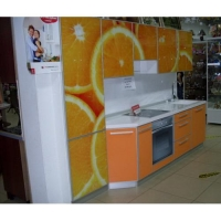 Кухня Пластик AL с каменной столешницей