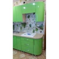 Кухня пластик с фотопечатью зеленая